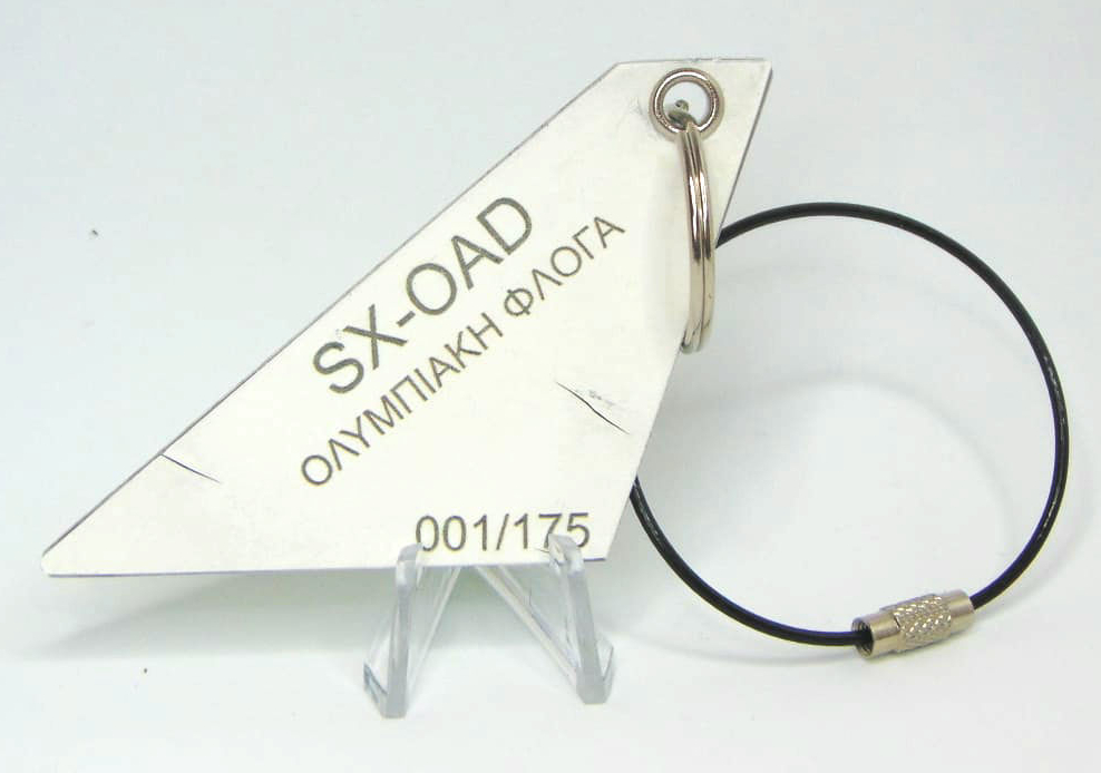 Tailfins aviation key ring Olympic Airways 747 called Olympic Flame