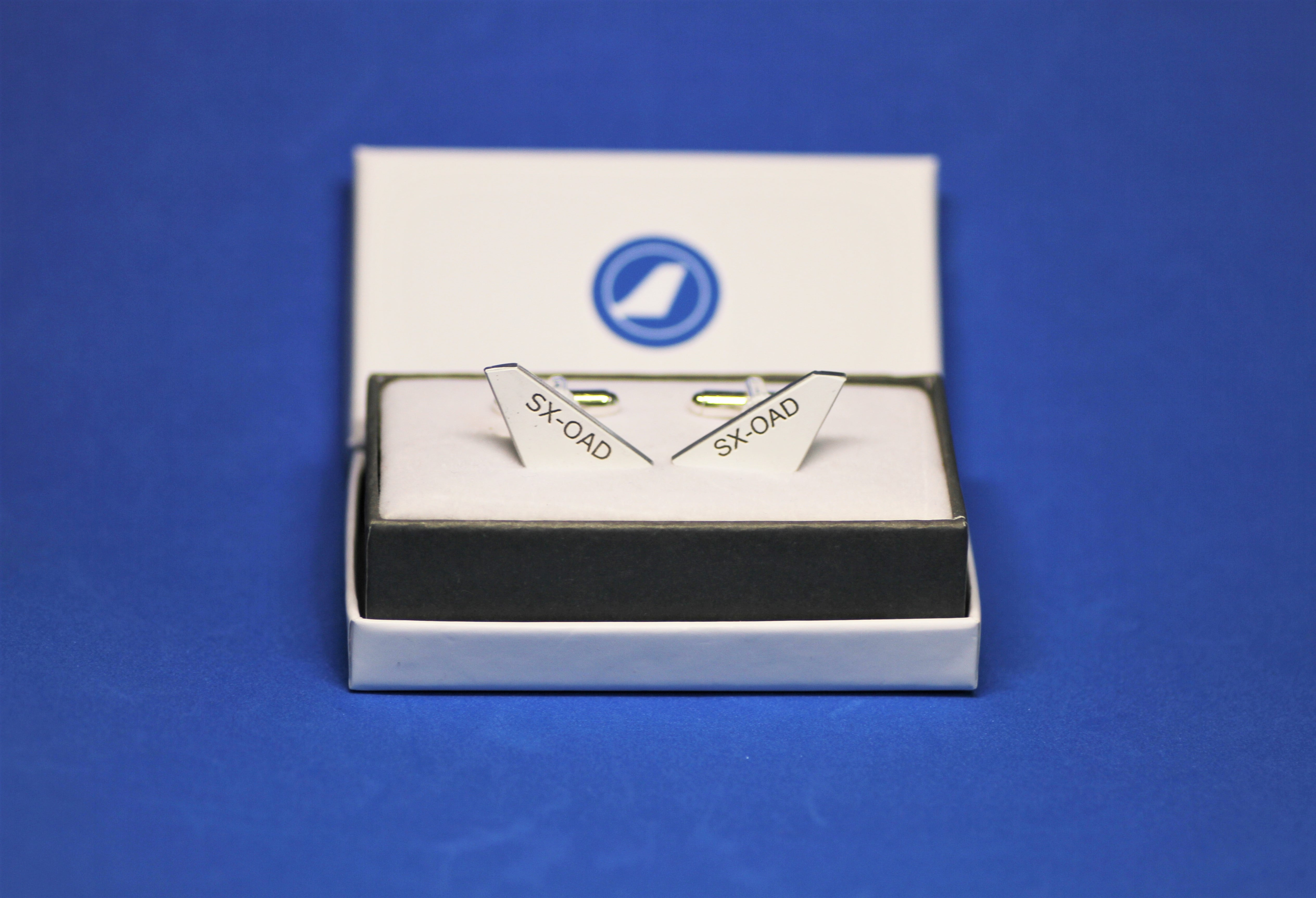 Cufflinks made from SX-OAD 747 Olympic Airways